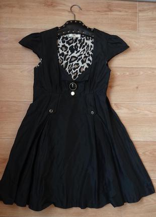 River island черное слегка пышное платье