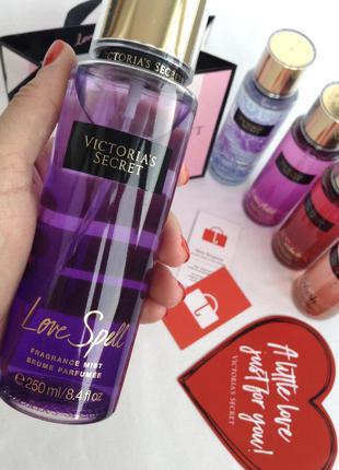 Парфюмированный спрей (мист) для тела victoria's secret! аромат love spell