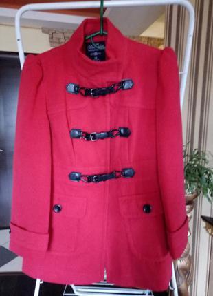 Скидки 50%! новое пальто дафлкот изумительного кораллового цвета