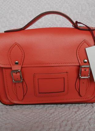 Yoshi сумка кроссбоди натуральная кожа кораллового цвета