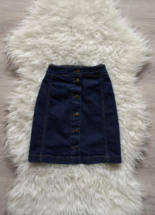 Юбка на пуговицах джинсовая