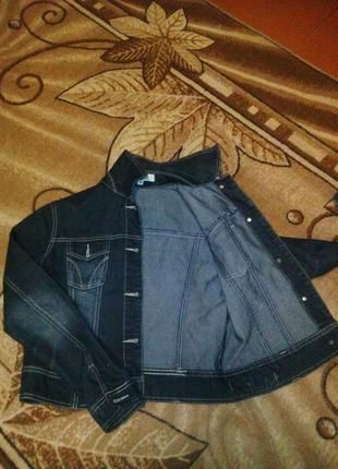 Клевая молодежная джинсовая куртка