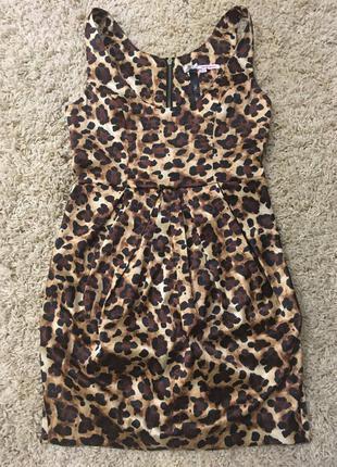 Платье леопардовое tally weijl