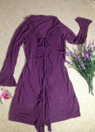 Шикарный длиный кардиган платье из натурального льна