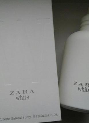 Zara white 100 ml новий дизайн!