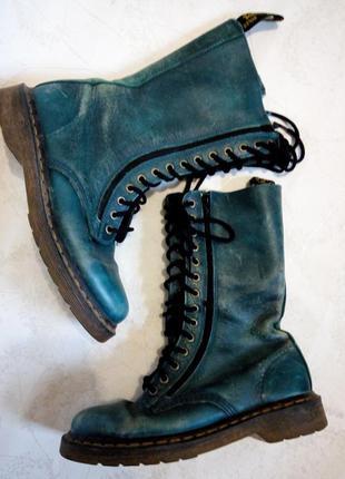Кожаные ботинки доктор мартенс ( dr. martens boots) модель 9733