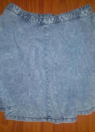 Джинсовая юбка клеш