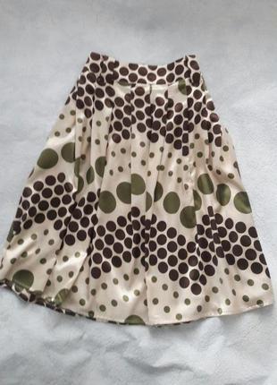 Шикарная юбка солнцеклеш 12 р миди
