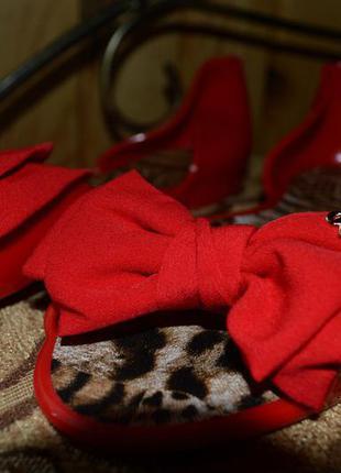 Силіконові червоні босоніжки, балетки