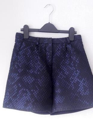 Topshop xs s размер синие шорты-юбка на высокой талии