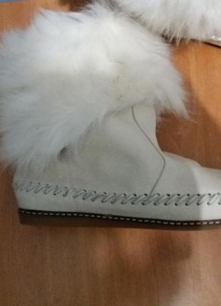 Супер ботинки zara натуральная кожа и натуральный мех