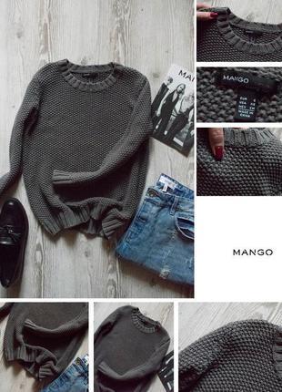 Объемный свитер крупной вязки мango