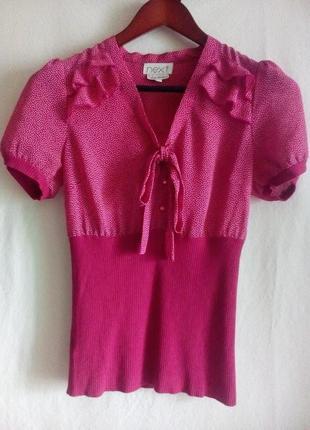 Блуза с коротким рукавом, next