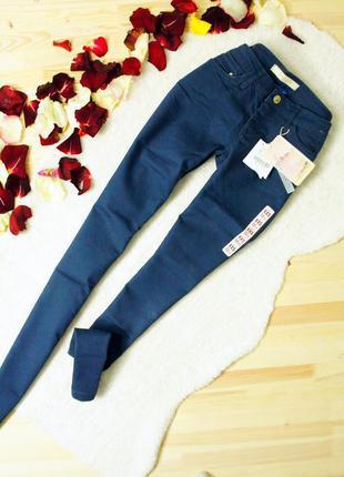 Bershka крутые темно-синие джинсы, брюки super skinny!