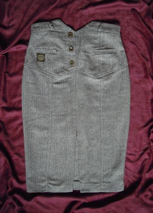 Классическая юбка с высокой талией