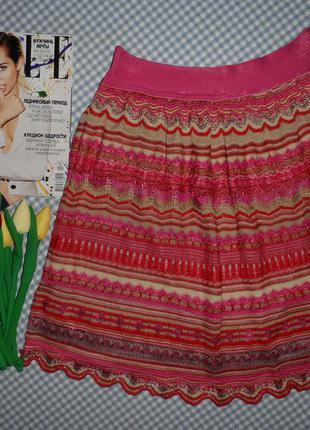 Красивая вязаная юбка в стиле missoni в размере м