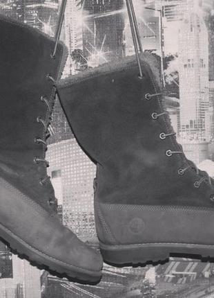 Кожаные теплые ботинки timberland