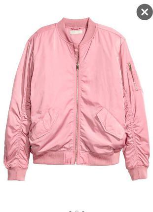 Атласная куртка бомбер