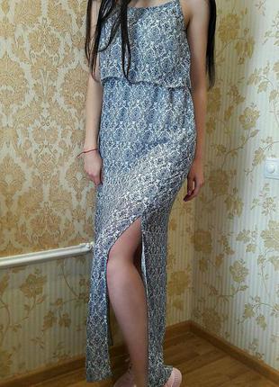 Шикарное шифоновое платье в пол от atmosphere m-l размера