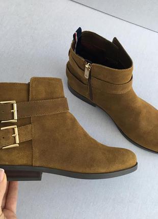 Замшевые ботиночки tommy hilfiger, оригинал!