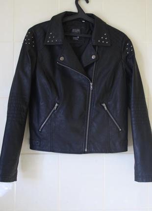 Куртка косуха, кожанная куртка с кнопками c&a