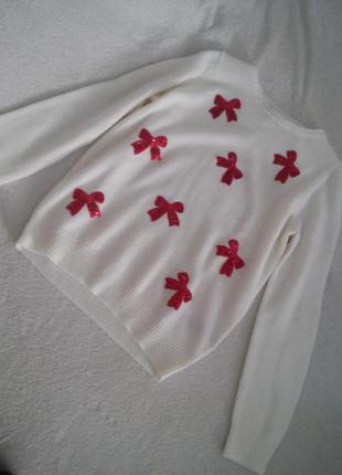 Тепленький белый свитер asos