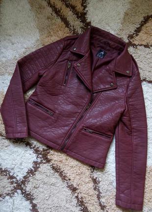 Косуха из плотного кожзама від атм / кожанка / куртка