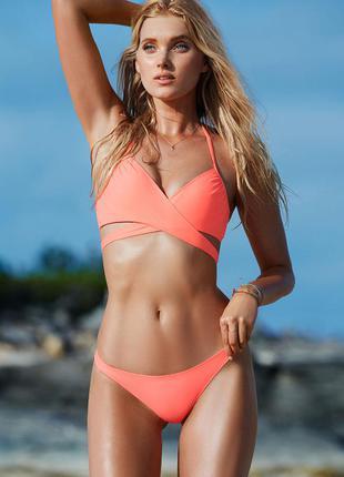 Новый яркий неоновый оранжевый купальник victoria's secret оригинал 32в 70в плавки s на выбор