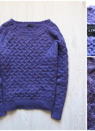 Фиолетовый теплый вязаный свитер atmosphere