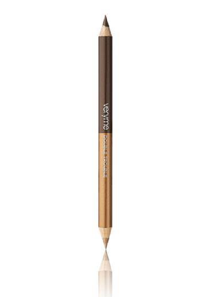 Двусторонний карандаш для глаз «двойная игра» орех & шоколад