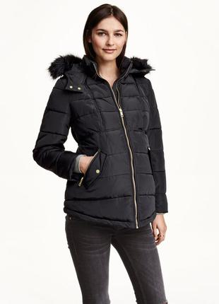 Демисезонный пуховик/куртка/курточка со сьемным мехом h&m