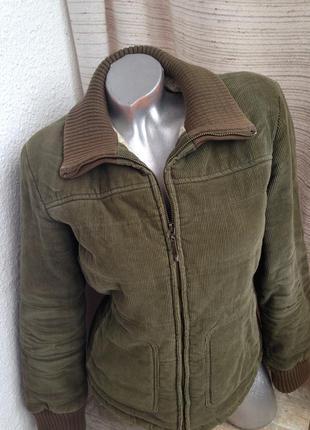 Куртка бомбер микровильвет вельвет хаки зелёная zara весна