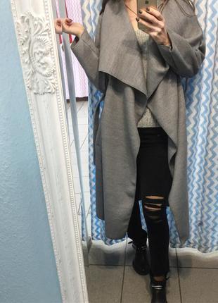 Шикарное кашемировое пальто халат