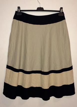 Оригинальная юбка из льна, отличное качество и посадка l-xl
