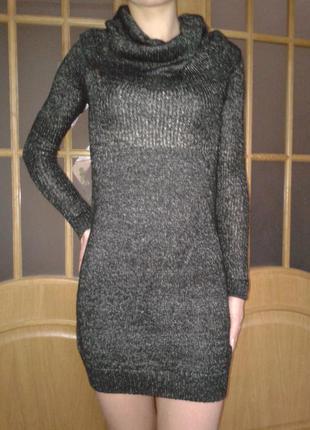 Классное вязаное платье reserved р. s (xs)