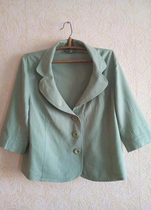 Стильный пиджачок лен 56-58 размер