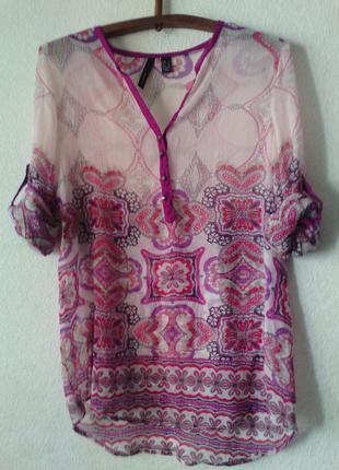 Шифоновоя блуза в восточном стиле