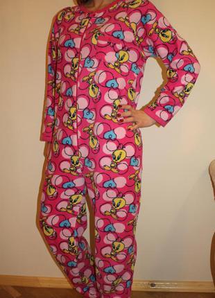 Класнющая пижама кигуруми домашний костюм , размер l, tweety на рост 170-175см