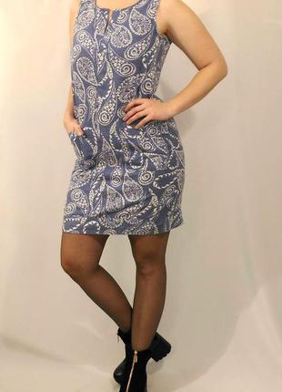 943 голубое летнее платье next