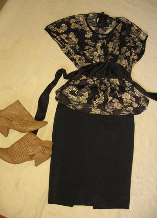Стильная блуза mango, баска.  оригинал! супер качество. сделоно в марокко.