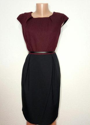 Платье элегантное миди  теплое р 12 nam & co london