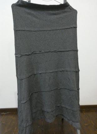 Демисезонная трикотажная юбка