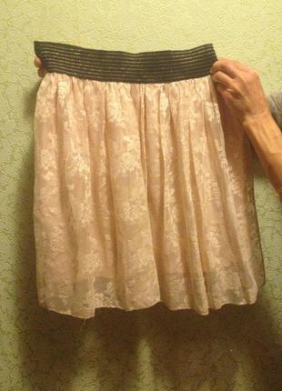 Нежная розово-бежевая юбка atmosphere