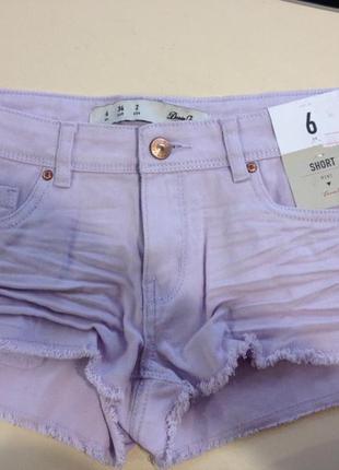 Нежно-фиолетовые шорты