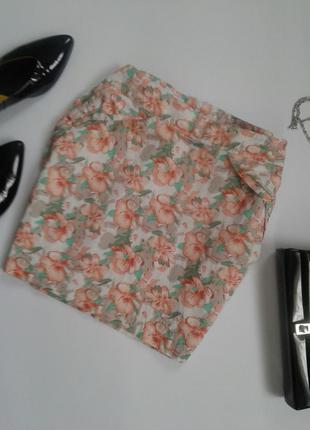 Милая юбка в цветочный принт
