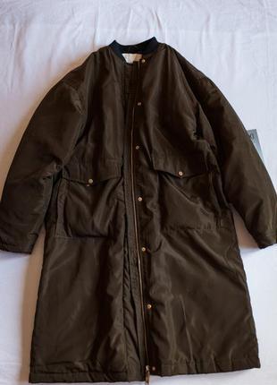 Куртка пальто бомбер pull & bear