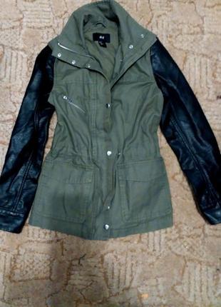 Куртка кожанные рукава h&m