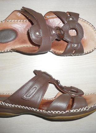 Шлепки пантолеты некст next кожа широкая стопа высокий подъем 39 р 26 см