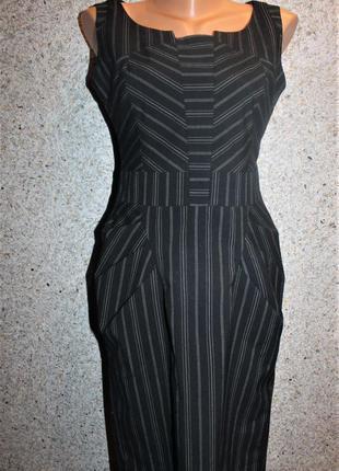 Платье футляр в мелкую полоску от next, размер xs