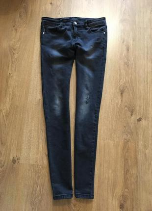 Крутые джинсы с потёртостями stradivarius, 36 размер